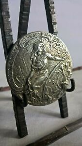 Antique Bronze Medal ART NOUVEAU French Nancy Exhibition 1909 VICTOR PROUVE