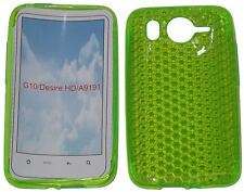 Per HTC Desire HD G10 A9191 PATTERN GEL JELLY CASE Protector Cover Pouch Verde