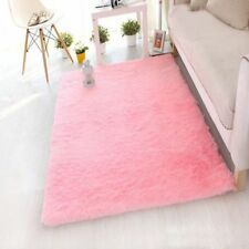 Hot Round Fluffy Rug Anti-Skid Shaggy Dining Room Home Bedroom Carpet Floor Mat