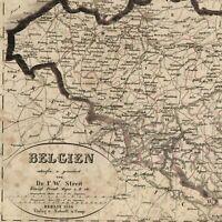 Belgium Belgien Europe 1836-7 uncommon Streit old map