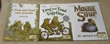 Lot 3 ARNOLD LOBEL An I Can Read Picture Books FROG & TOAD Mouse Soup HBDJ EUC
