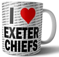 I Love Exeter Chiefs Tea - Coffee - Mug - Cup - Birthday - Christmas - Gift
