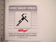 Aufkleber Sticker Olympia Kellogg's Cornflakes Sponsor (7724)