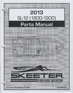 2013 SKEETER PERFORMANCE FISHING BOATS  SL-12(1800-1900)  PARTS MANUAL  (792)