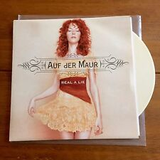 """Auf Der  Maur - Real A Lie 7"""" Cream Vinyl Hole Smashing Pumpkins"""