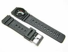 20mm Watch Band Replacement Rubber Plastic Black With Compass