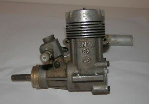 Enya CX 40 RC Plane Engine with Muffler - LOW COMPRESSION / BAD CARB