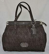 GUESS Cool Disco Carryall Shoulder Bag Purse Tote Shopper Logo Grey Brown New