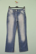 Womens Designer ReJECT Vtg Style Indigo Straight Led Mid Waist sz UK 8 Jeans R27