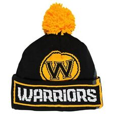 Brand New Adult Adidas Golden State Warriors NBA Oversized Team Logo Knit Hat