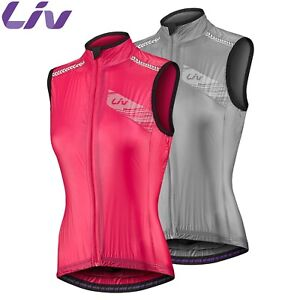 Liv Cefira Womens Cycling Wind Vest - Silver, Pink