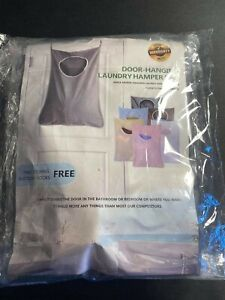 Door Hanging Laundry Washing Bag Foldable Clothes Hamper Wall Suction D