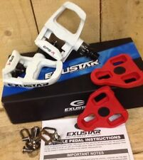 Exustar E-PR100PP Look Keo Road Bike Pedals White With Cleats UK IBD