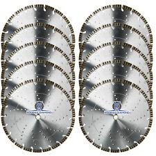 "10Pck 14"" Turbo Segmented Diamond Blade Teardrop Keyhole Gullet General Purpose"