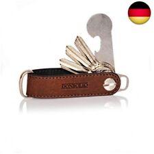 d748da682ae69 Donbolso Key Organizer Leder mit Schraube aus Edelstahl Herren Schlüssel  Orga.
