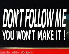 4x4 Stickers 4x4 off road accessories DONT FOLLOW ME 200mm