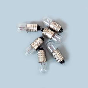 E10 Instrument Signal Indicator Warning Screw Bulb Lamp 6.3/12/24/30V 1.5/2/3/5W