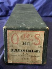 RP2724 Vtg Q.R.S. QRS Word Roll Player Piano Music Roll 3911 Russian Lullaby