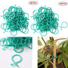 100 Garden Plant Support Clips Vegetables Tomato Vine Flower Locks Grow Upright