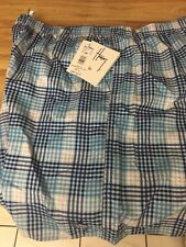 Guy Harvey men's volley shorts size XL blue plaid NWT
