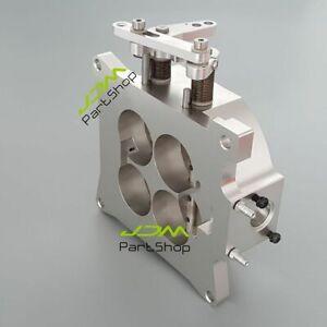 "Aluminum 1000CFM 4150 Flange Carburetor Throttle Body 1.75"" Inch Bore Barrels 4"
