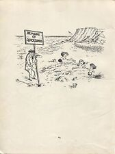 "Norman Thelwell. ""Buried in Quicksand"" Original vintage 1957 cartoon print."