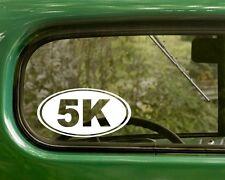 5k Marathon Decal Sticker Running 2 Ovals Vinyl Die Cut, Car, Trucks, Laptop