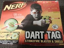 New NERF N-Strike STRIKEFIRE Dart BLASTER SET Dart Tag GLASSES Target Shield