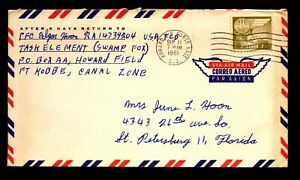 Canal Zone 1961 Howard Airforce Base Cover to USA - L32930