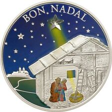 2011 Andorra 5 Diners 25g Sterling Silver Coin Merry Christmas Bon Nadal, No Tax