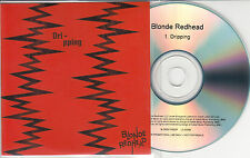 BLONDE REDHEAD Dripping 2014 UK 1-track promo CD + press release