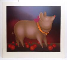 "Unique ORIGINAL Igor Galanin Serigraph ""Pig with a Bow"" Hand Signed LIMITED COA"