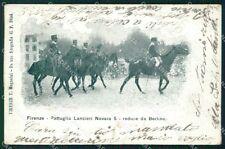 Militari Reggimentali V Reggimento Lancieri di Novara Firenze cartolina XF2064