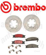 Set of 2-Brembo  Front Disc Brake Rotor  & Brembo Front Brake Pads