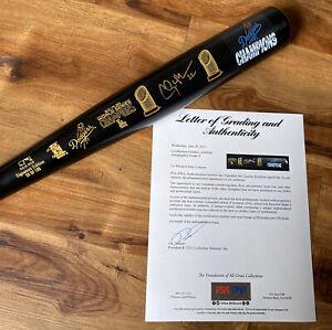 Clayton Kershaw Signed 2020 World Series Champs #/100 LS Bat 1/1 PSA/DNA BAS LOA