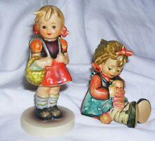 New Listing1980'S Vintage Hummel Goebel School Girl & Knit One Purl One Figurines Germany