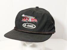 Vintage E-One Emergency Vehicles Fire Truck Rope Braid Strapback Trucker Hat Cap