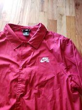 Nike Sb Shield Red Button Up Coaches Jacket 829509 634 Mens Medium Windbreaker