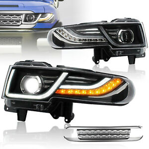 Customized LED Headlights with Grille Assembly for 2007-2014 Toyota FJ Cruiser