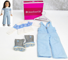 American Girl Doll CHRISSA'S SNOW OUTFIT Knit Sweater Ski Bibs Pants Boots BOX!