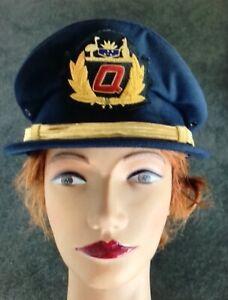 QANTAS AIRWAYS PILOT HAT -OLD