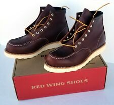 RED WING 8138 CLASSIC MOC MEN'S 6-INCH BOOT IN BROWN LEATHER. Factory 2nd. 9.5