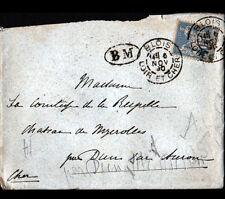BLOIS (41) ENVELOPPE Oblitération postale BM Boite Mobile en 1890