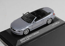 BMW M6 Cabriolet Cabrio 2006 silbergrau metallic Minichamps 1:43