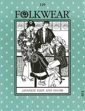 Folkwear 129 Japanese Hapi and Haori Traditional Costume Sewing Pattern