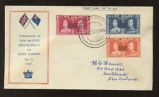 COOK ISLANDS 1937 CORONATION ILLUSTRATED FDC RARATONGA