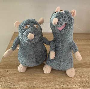 Ratatouille Rat Plush Lot of 2 Remi + Django Father Son Disney Pixar Small Toys