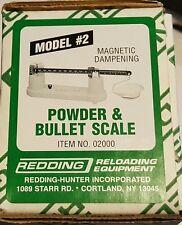 02000 REDDING MODEL NO. 2 POWDER & BULLET SCALE - BRAND NEW - FREE SHIPPING