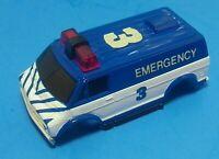 HO TYCO BODY Fits HP440 WIDE PAN,HP2,HP7 Vintage #3 EMERGENCY VAN Slot Car Body