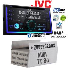 JVC Radio für Audi TT 8J Bose DAB+ Bluetooth USB Set CanBus Lenkradfernbedienung